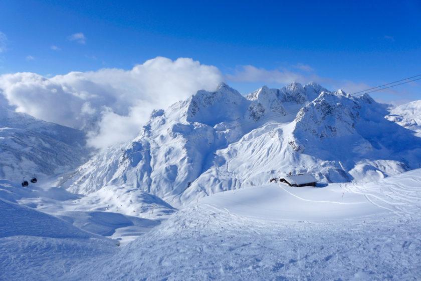 Mega-Kälte und Tiefschnee am Arlberg